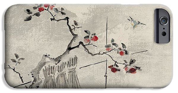 Fruit Tree iPhone Cases - Blue bird iPhone Case by Aged Pixel