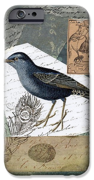 Blue Bird Study iPhone Case by Tamyra Crossley