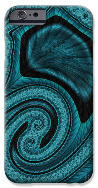 Blue Abstracts iPhone Cases - Blue Blood iPhone Case by John Edwards