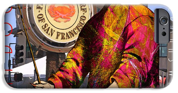 Sf iPhone Cases - Blue Bonnet Play Doctor of San Francisco Fishermans Wharf 20140306 square with text iPhone Case by Wingsdomain Art and Photography