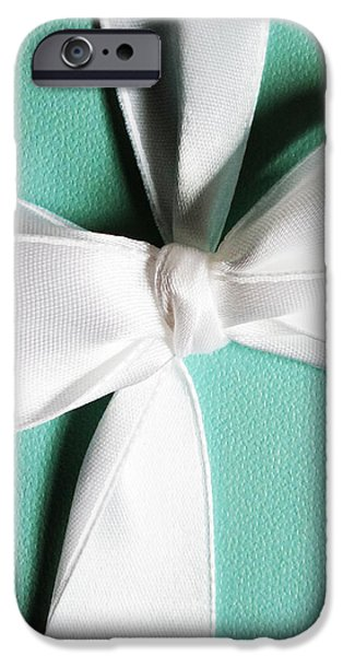 Close Jewelry iPhone Cases - Blue Box iPhone Case by Christine  Leanne
