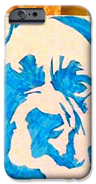 Blue Boxer iPhone Case by Ashley Reign