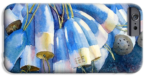Bouys Paintings iPhone Cases - Blue Bundle iPhone Case by Sherri Bails