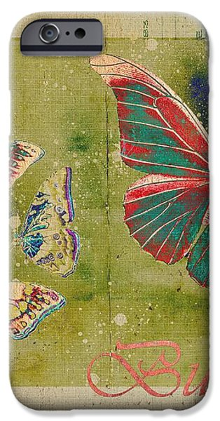 Blue Butterfly Etc - s55ct01 iPhone Case by Variance Collections