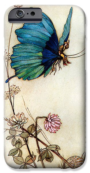 Blue Butterfly iPhone Case by Warwick Goble