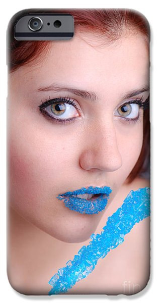 Pleasure iPhone Cases - Blue Candy iPhone Case by Jt PhotoDesign