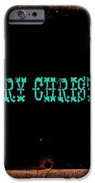 blue christmas iPhone Case by Chris Berry