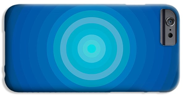Disc iPhone Cases - Blue Circles iPhone Case by Frank Tschakert