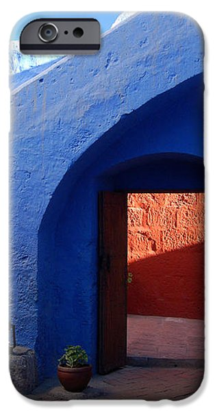 Blue courtyard iPhone Case by RicardMN Photography