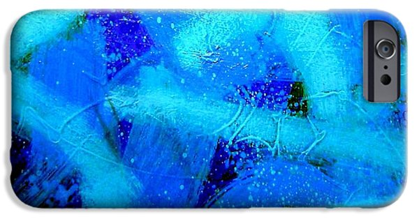 Abstract Movement iPhone Cases - Blue Crescendo iPhone Case by John  Nolan