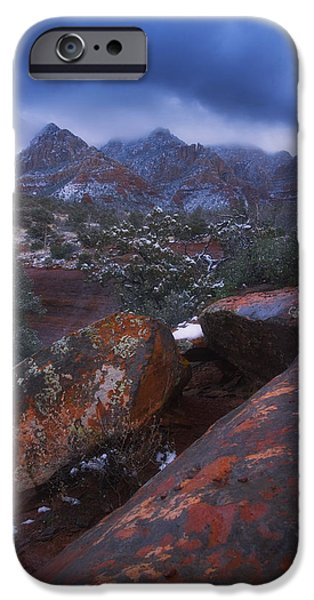 Sedona iPhone Cases - Blue Dawn iPhone Case by Peter Coskun