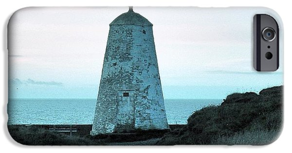 Lighthouse iPhone Cases - Blue Direction iPhone Case by Lisa Byrne