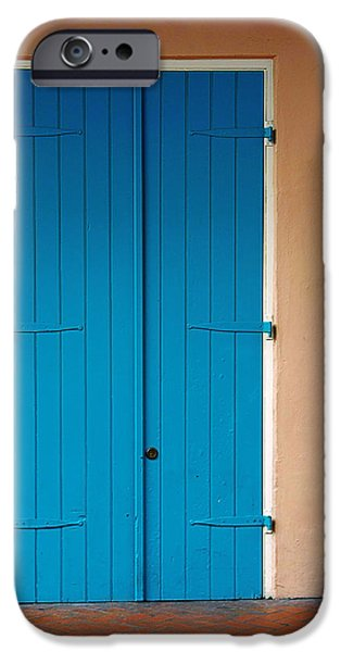 Blue Door in New Orleans iPhone Case by Christine Till
