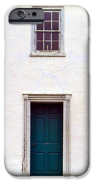 Painter Poster Photographs iPhone Cases - Blue Door iPhone Case by Michelle Milano