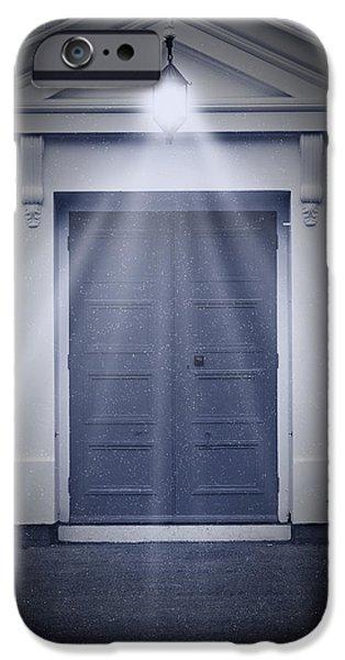 Blue Door iPhone Case by Svetlana Sewell