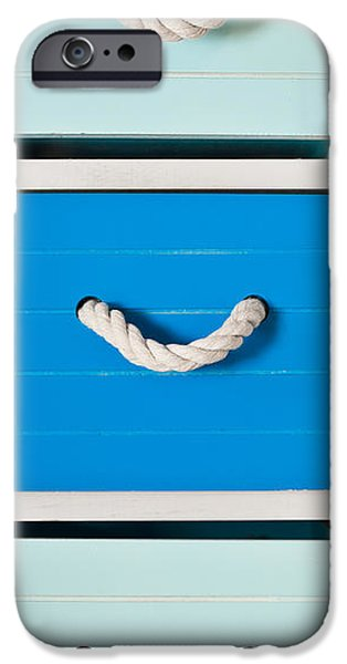 Furniture iPhone Cases - Blue drawers iPhone Case by Tom Gowanlock