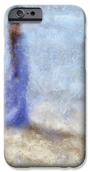 Blue Dream. Impressionism iPhone Case by Jenny Rainbow