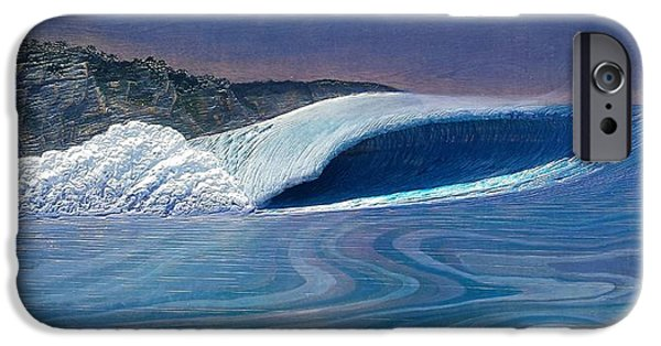 Ocean Reliefs iPhone Cases - Blue Dream iPhone Case by Nathan Ledyard