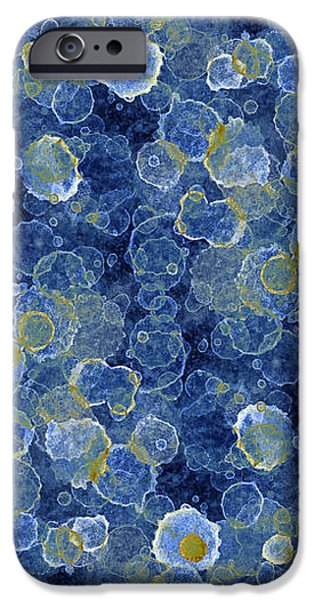 Blue Drip iPhone Case by Frank Tschakert