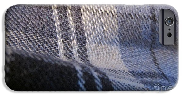 Texture Tapestries - Textiles iPhone Cases - Blue iPhone Case by Edward Boggs
