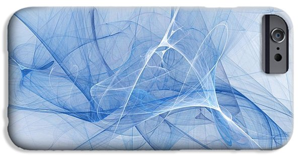 Recently Sold -  - Abstract Digital iPhone Cases - Blue iPhone Case by Elizabeth McTaggart