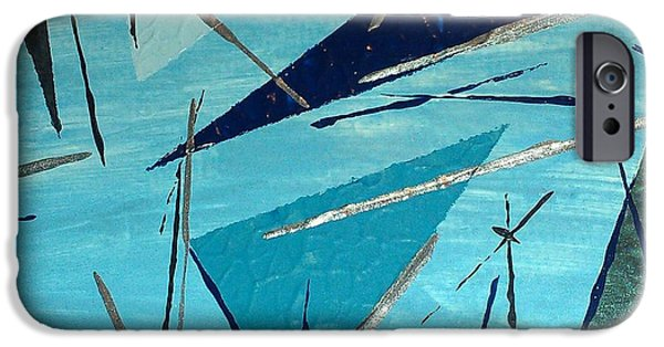 Electrical Paintings iPhone Cases - Blue Energy iPhone Case by Sonya Wilson