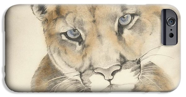 Recently Sold -  - The Tiger iPhone Cases - Blue Eyes iPhone Case by Lori Brackett