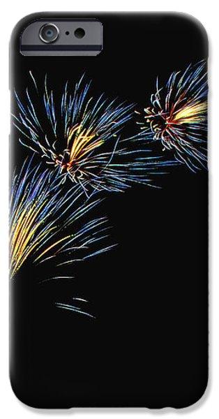 Blue Fireworks iPhone Case by Katie Gleason Verd