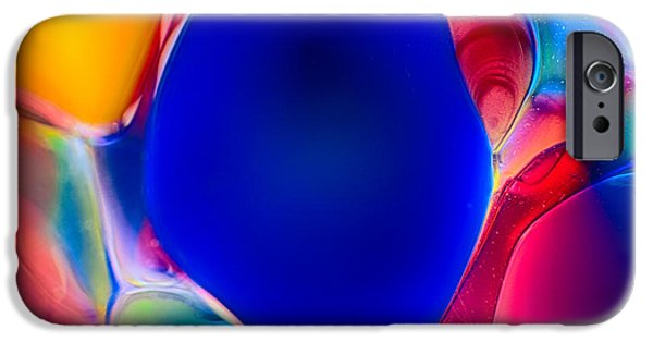 Connection Glass Art iPhone Cases - Blue Fish iPhone Case by Omaste Witkowski