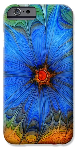 Blue Flower Dressed For Summer iPhone Case by Karin Kuhlmann