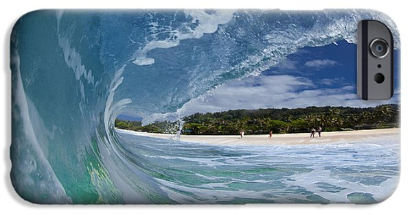 Water Photographs iPhone Cases - Blue Foam iPhone Case by Sean Davey