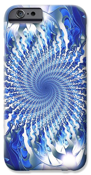 Liquid iPhone Cases - Blue Focal Point iPhone Case by Anastasiya Malakhova