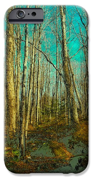 Surreal Landscape iPhone Cases - Blue Forest iPhone Case by David Patterson