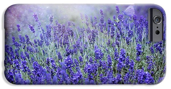 Creative Photographs iPhone Cases - Blue Garden iPhone Case by Magda  Bognar