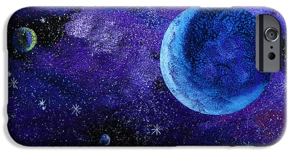 Star Glass iPhone Cases - Blue Gas Planet iPhone Case by Wolfgang Finger