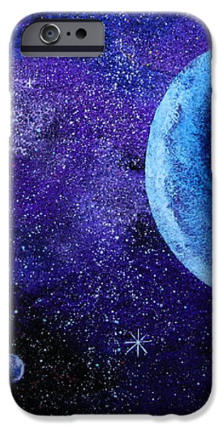 Blue Gas Planet iPhone Case by Wolfgang Finger