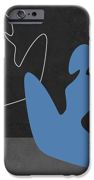 Love Making Paintings iPhone Cases - Blue Girl iPhone Case by Naxart Studio