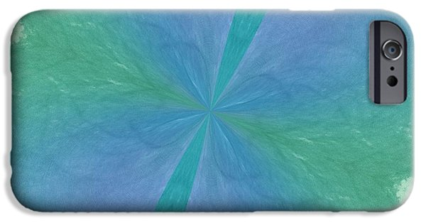 Becky Digital Art iPhone Cases - Blue Green Kaleidoscope Texture iPhone Case by Becky Hayes