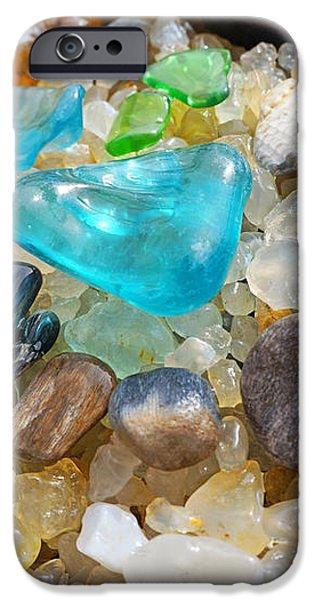 Blue Green Seaglass Coastal Beach Baslee Troutman iPhone Case by Baslee Troutman