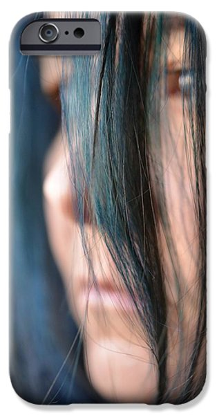 Self Portrait Photographs iPhone Cases - Feeling Blue iPhone Case by Marianna Mills