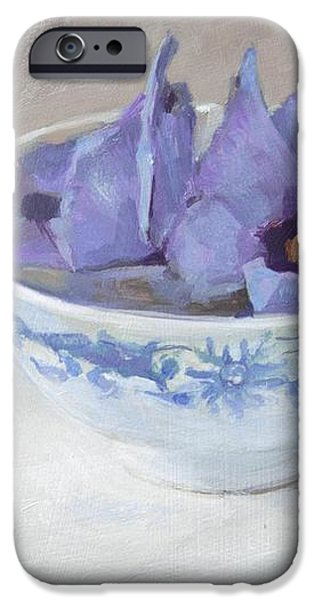 Blue hibiscus flower in chinese cup iPhone Case by Anke Classen