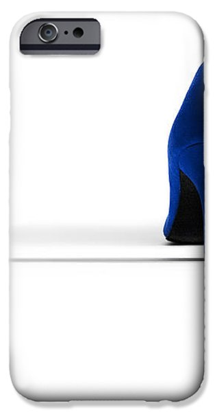 Blue High Heel Shoes iPhone Case by Natalie Kinnear