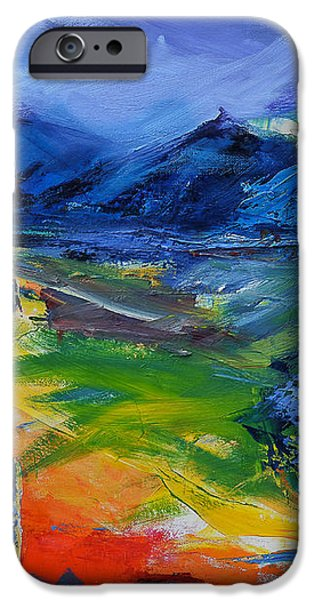 Blue Hills iPhone Case by Elise Palmigiani