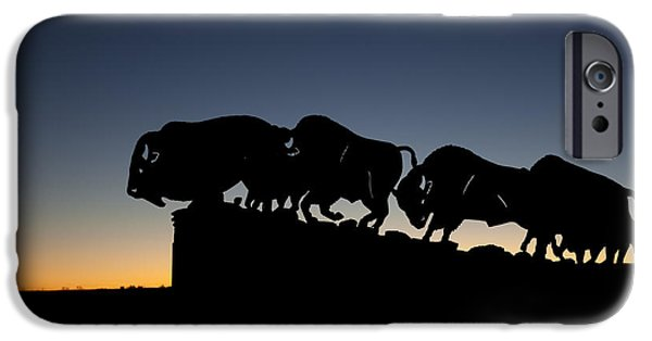Animals Photos iPhone Cases - Blue Hour at Caprock Canyons State Park iPhone Case by Melany Sarafis