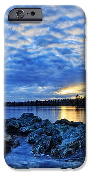 Blue Ice at Sunset iPhone Case by Bill Caldwell -        ABeautifulSky Photography