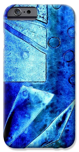 Abstract Movement Mixed Media iPhone Cases - Blue   II iPhone Case by John  Nolan