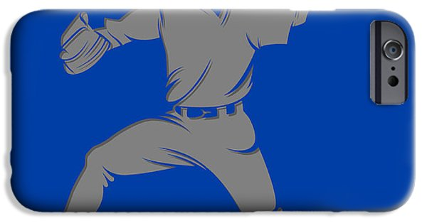 Blue Jay iPhone Cases - Blue Jays Shadow Player1 iPhone Case by Joe Hamilton