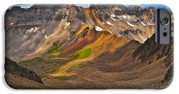 Basin iPhone Cases - Blue Lakes Pass iPhone Case by Aaron Spong