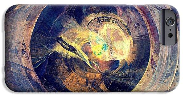 Meditation iPhone Cases - Blue Legend iPhone Case by Anastasiya Malakhova