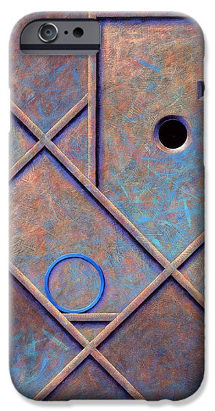 Buildings Mixed Media iPhone Cases - Blue Light iPhone Case by Barry Masteller